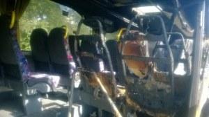 Bus incendié un soir de match