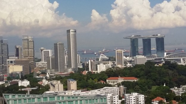 Singapore harbour still attracts a lot of shipping