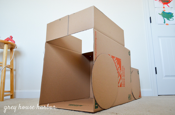 How to make a cardboard box dump truck grey house harbor for How to make a letterbox out of cardboard