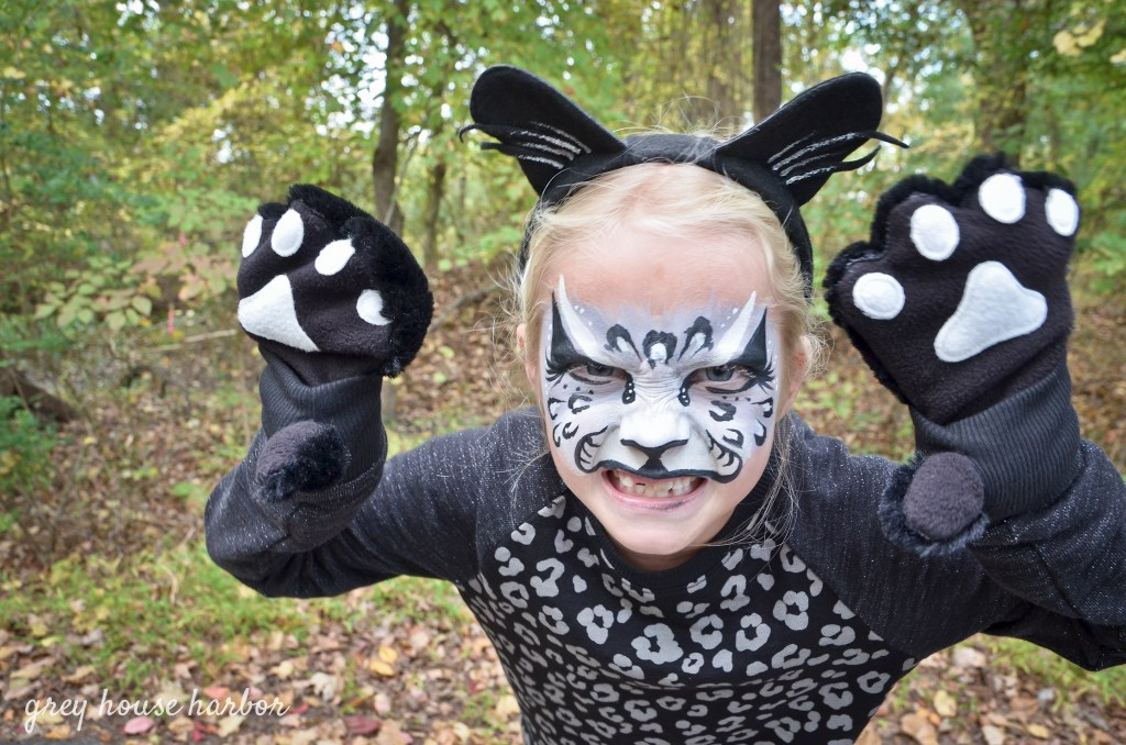 Panther costume and facepaint greyhouseharbor.com