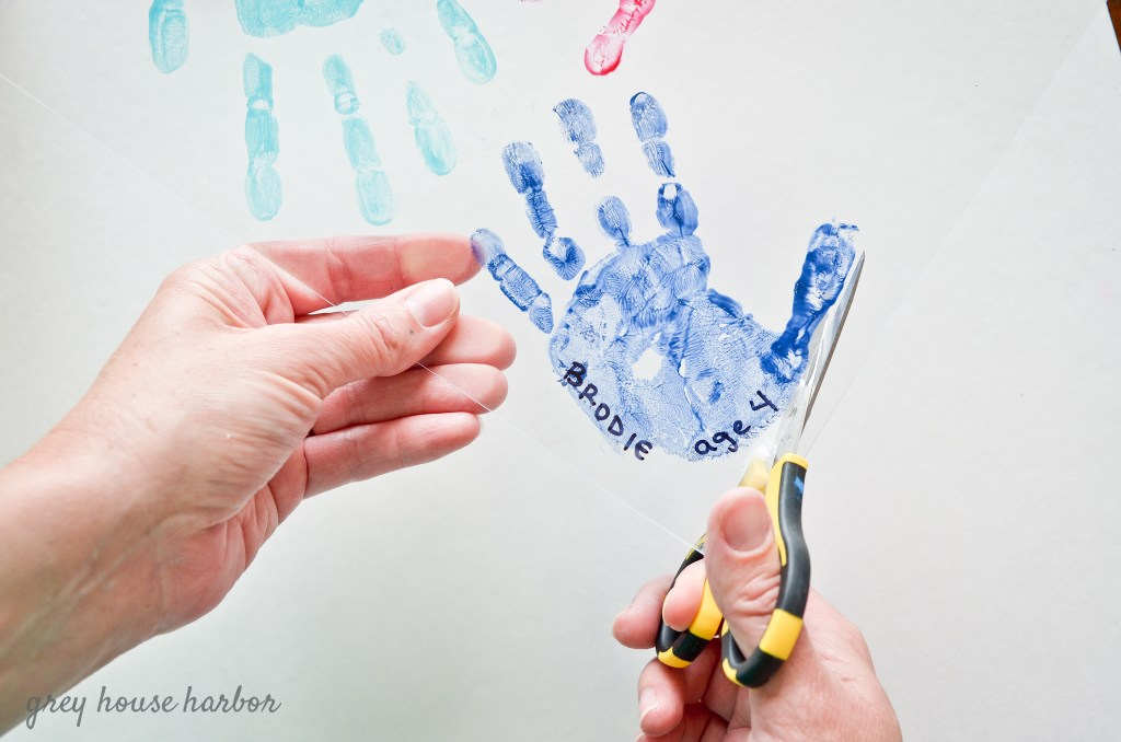 Diy Handprint Keychain Grey House Harbor