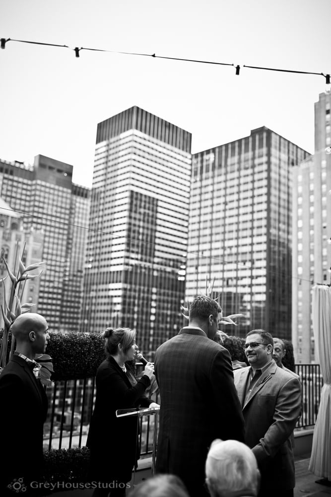 Devin + Bruce's rooftop Kimberly Hotel wedding photos in Manhattan NYC