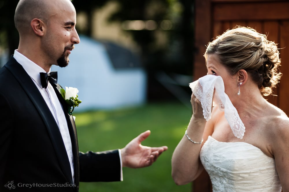 bride and groom first look crying photos new haven