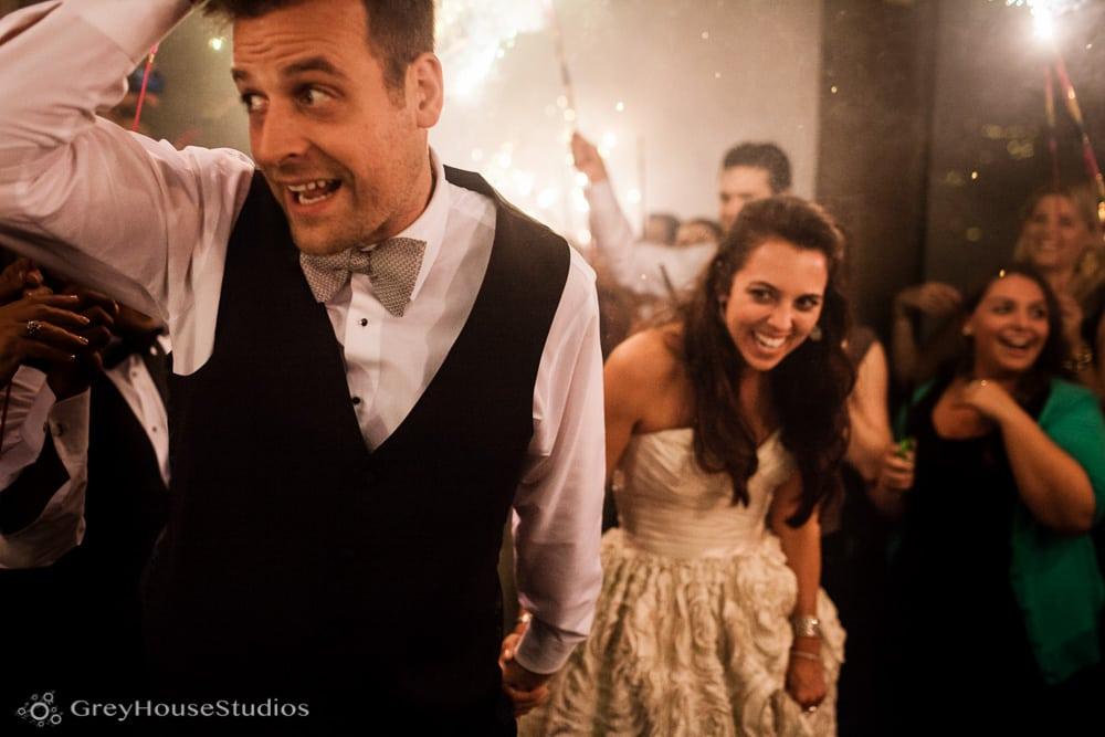 winvian wedding reception photos groom and bride sparkler exit