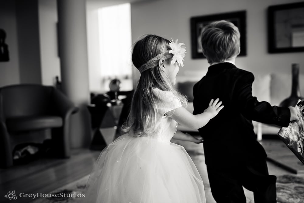 nyc east village wedding ring bearer flower girl getting ready running photos