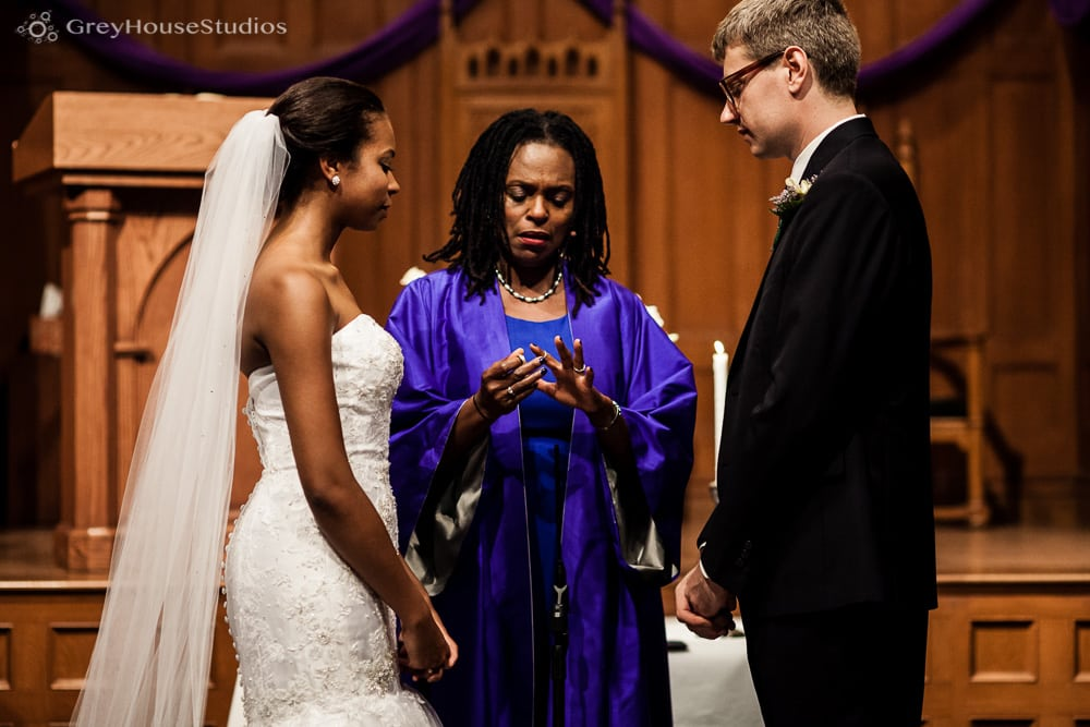 middle collegiate church nyc wedding ceremony exchanging vows photos