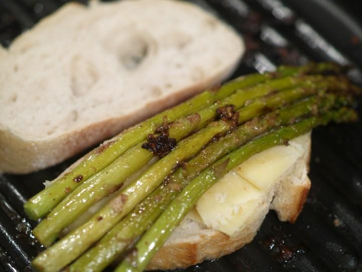 Asparagus & Lemon Pepper Vinaigrette Grilled Cheese