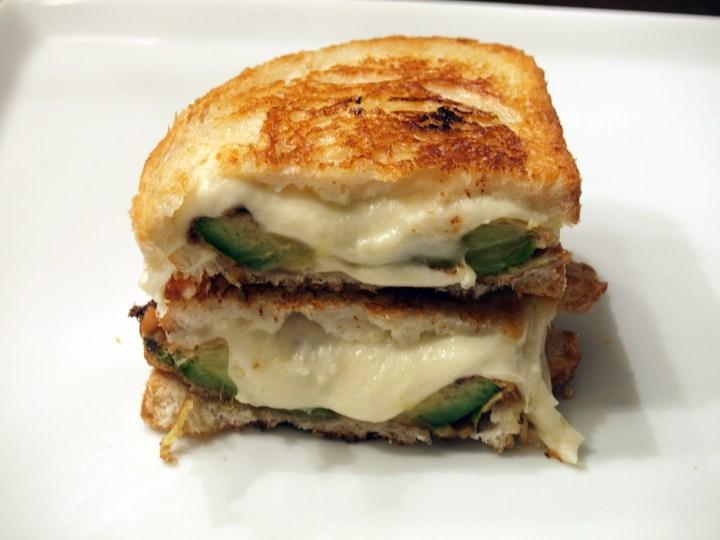Fried Avocado & Fresh Mozzarella Grilled Cheese