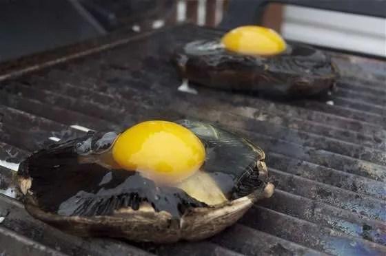 Portobello Eggs on the Grill - 064