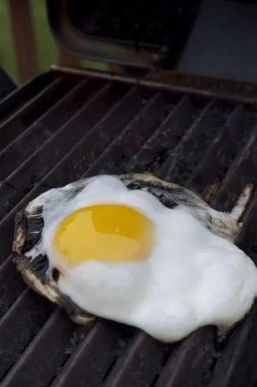 Portobello Eggs on the Grill - 081