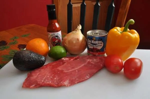 Adobo MarinatedF Flank Steak Fajitas - 015