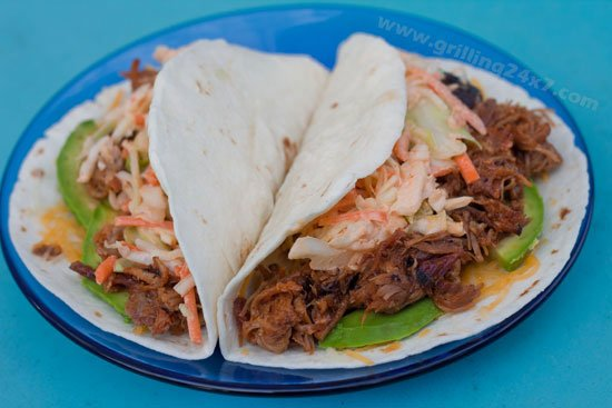 Pulled Pork Tacos with Spicy Sriracha Cole Slaw