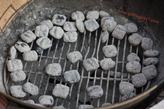 Grilled Pizza Directly on the charcoal grill grates