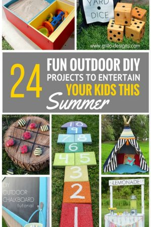 24 Fun Outdoor DIY Projects That Will Keep Your Kids Entertained This Summer