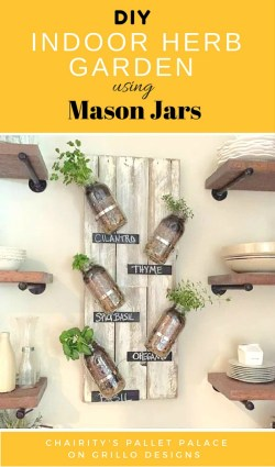 Amusing Diy Mason Jar Herb Garden Diy Herb Garden Using Soda Cans Grillo Designs Build Raised Herb Garden Build Outdoor Herb Garden