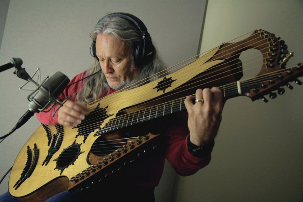 """Story Behind The Shoot – Keith Medley """"Hall Of The Mountain King"""" on his 27-string Medley Guitar"""