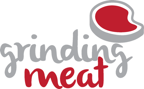 grinding meat logo