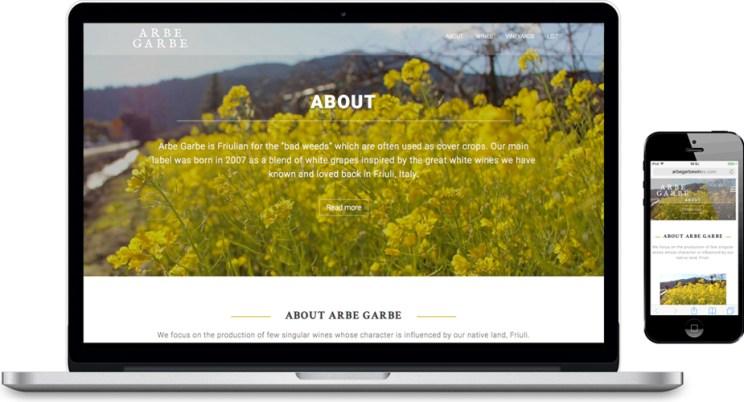 Arbe Garbe Site (laptop & mobile)