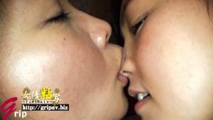 女優粘写04 ねっとりと舌を絡ませる鼻フェラ顔舐めレズ接吻と腋や足裏、アナルを啜る舐めレズ編/かのこ&ももか