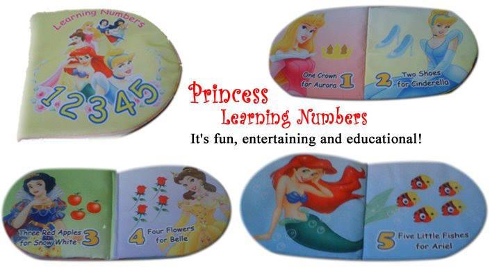 Princess Learning Number | Grosir Buku Bantal - Buku ...