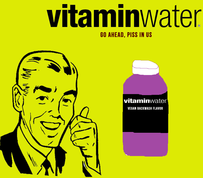 Vitamin water piss poster