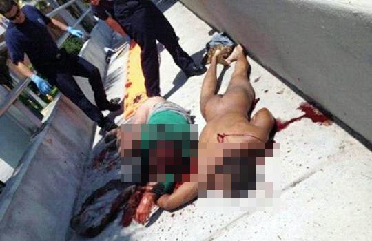 【閲覧注意】被害者の顔面を食べていた男が警察に射殺される 27日 アメリカ