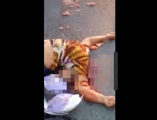 【グロ動画】フルフェイスを被って安全運転してた女性→首取れちゃいました・・・