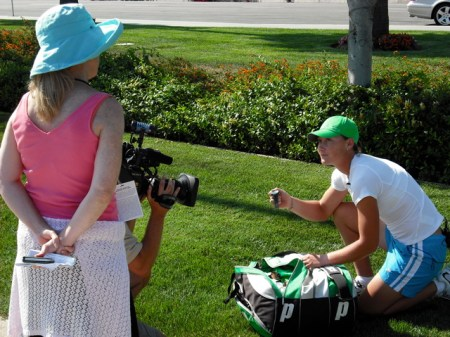 Samantha Stosur Bag Check