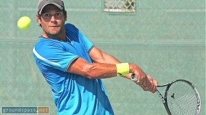 Alessandro Ventre powers through to the men's singles championship at the 2013 iTennis/Andulka Park Adult Open Tennis Championships.