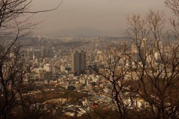 seoul city, namsan seoul tower view