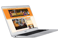 Macbook Air Laptop GRRRL branding
