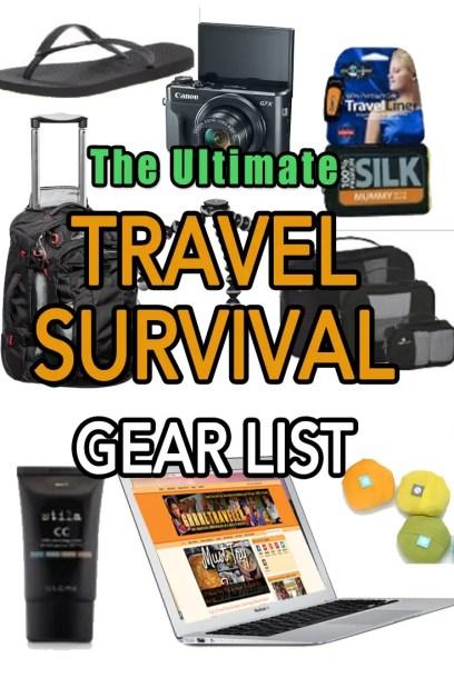 the Ultimate Travel Survival List, GRRRL TRAVELER GEAR, ultimate packing list