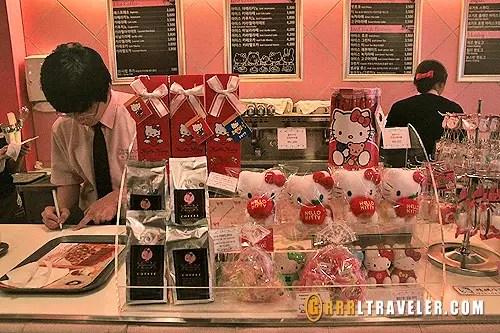 Hello Kitty Cafe desserts, Hello Kitty Cafe Seoul Hongdae, hello kitty cafe seoul, theme cafes in korea