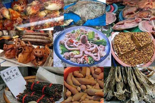 strange bizarre asian foods, korean fear factor foods