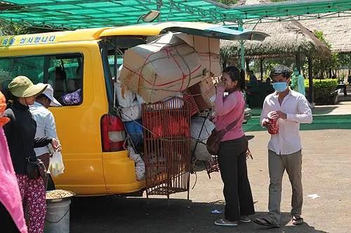 Cambodian minibus