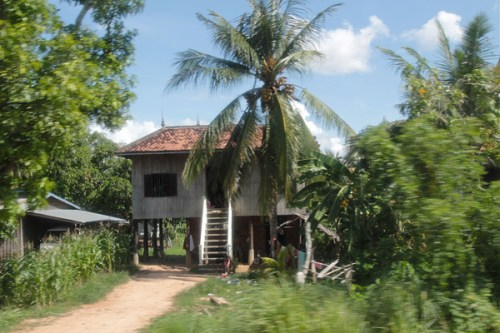 stilted houses in cambodia
