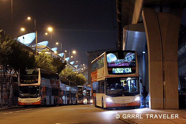 hong kong's double deck buses, double deck buses