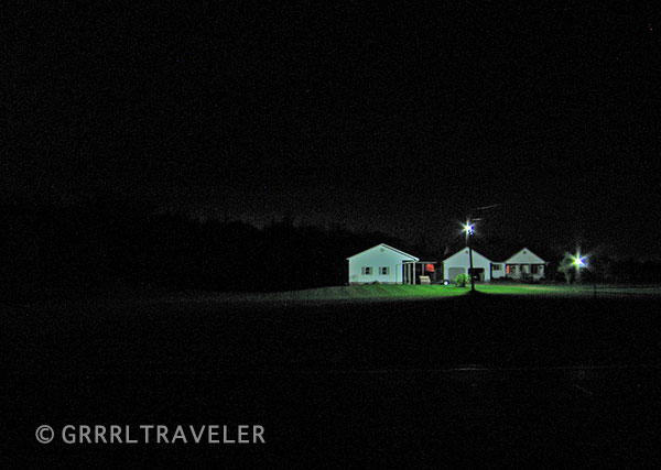 dark dwellings, photographs of rural America, night travel photographs, farmhouses at night
