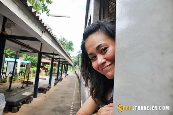 kachanaburi death railway, grrrltraveler riding the death railway