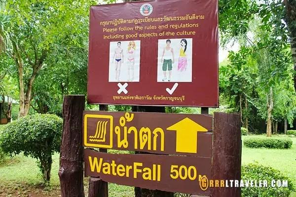 erawan falls national park thailand rules