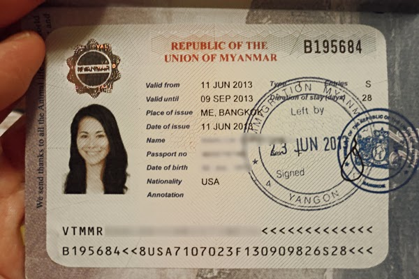 getting your myanmar visa in bangkok, getting your burmese visa in thailand