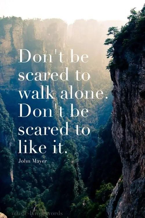 alone scared solo travel