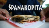 spanakopita, greek spinach pie, greek street food, street foods greece