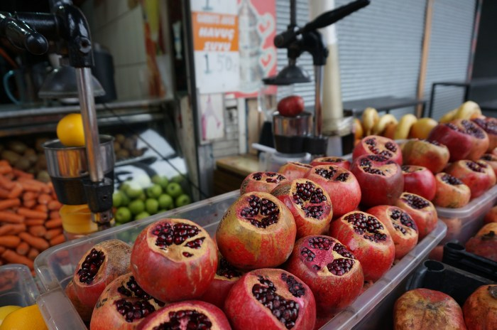 Pomegranate drinks in Istanbul