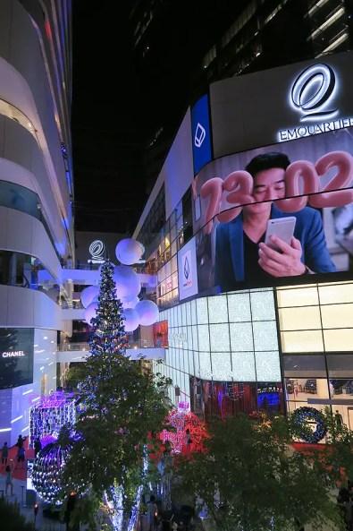 video installation on side of building bangkok