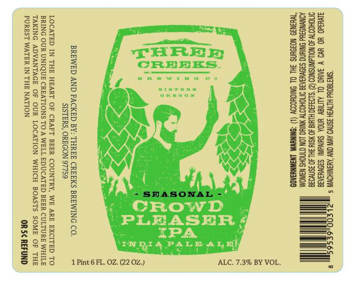 Three Creeks Crowd Pleaser IPA