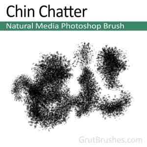 Photoshop Natural Media Brush 'Chin Chatter'