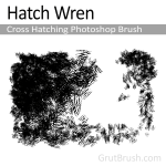 Hatch Wren Cross Hatching Photoshop Brush Toolset