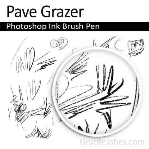 'Pave Grazer' Photoshop Ink Brush for digital artists