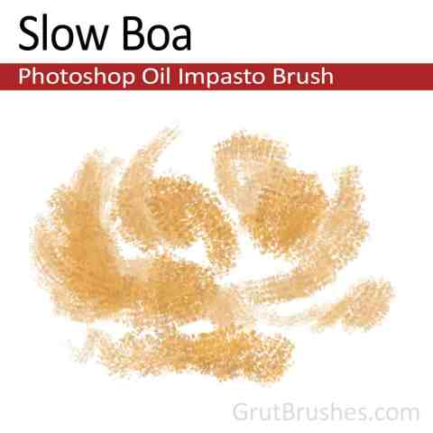 'Slow Boa' Photoshop Impasto Oil Brush for digital artists